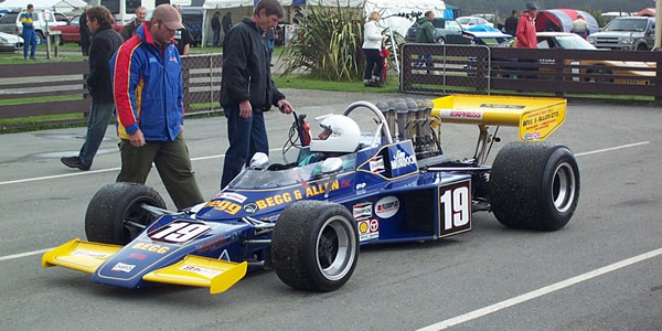 Noel Atley in the Begg 018 at Teretonga's Classic Speed Fest in February 2005.  Copyright Kevin Thomson 2005.  Used with permission.
