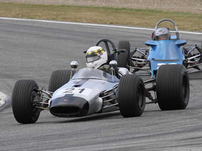 Peter Barclay in his ex-Graeme Harvey Brabham BT21A at Teretonga in 2013. Copyright Kevin Thomson  2013. Used with permission.