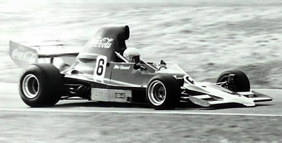 Max Stewart in T400 HU2 at Teretonga 1975. Copyright Kevin Thomson  2005. Used with permission.