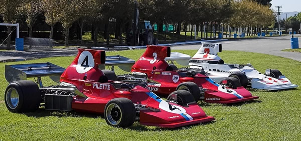 The three Lola T430s lined up in chassis number order at Christchurch in October 2007 following the reconstruction of HU2. Copyright Warbirds Photography 2007. Used with permission.