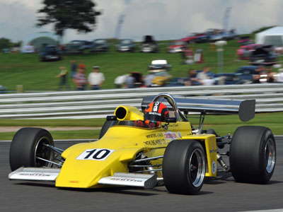 Darwin Smith in his father's March 722 at Oulton Park in August 2017, winning the opening heat of the 'Historic Gold Cup'. Copyright Simon Arron 2020. Used with permission.