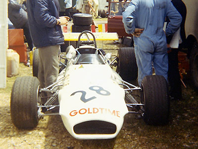 Andrea de Adamich's Brabham BT30-22 at Rouen in 1970. Copyright Gerard Barathieu. Used with permission.