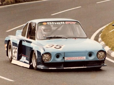 Don Bewick in the Chevron-based Skoda at Creg-ny-Baa on the Longton & District Motor Club's Isle of Man hillclimb - probably in 1982. Copyright Don Bewick 2009 . Used with permission.