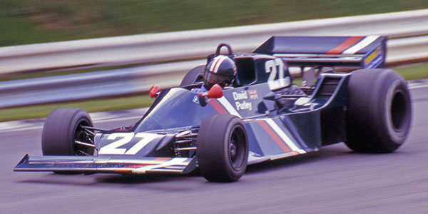 David Purley returned to circuit racing in the second Lec CRP1 at the Brands Hatch Aurora race in August 1979. Copyright David Bishop  2018. Used with permission.