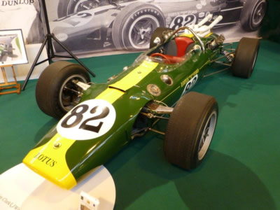 The Lotus 38 on the Classic Team Lotus stand at the NEC in January 2015. Copyright Ian Blackwell 2015. Used with permission.