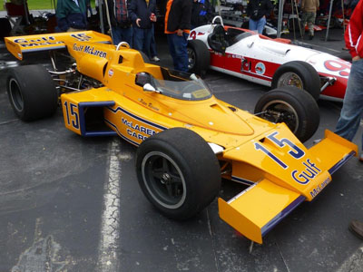 Aaron Lewis's McLaren M16C at the Historic Indycar Exhibition in 2017. Copyright Ian Blackwell  2017. Used with permission.