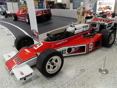A McLaren M24 restored to 1977 Mario Andretti livery in the IMS Museum in May 2019. Copyright Ian Blackwell 2020. Used with permission.