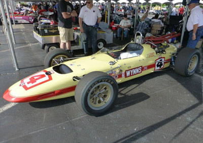 The 1965 #4 Watson of William Davis at the 2017 Indycar Historic Exhibition. Copyright Ian Blackwell  2017. Used with permission.