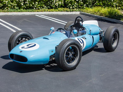 "The ""ex-Bernard Collomb"" Cooper T53 as auctioned by Bonhams at Quail Lodge in 2019. Copyright Bonhams 2019. Used with permission."