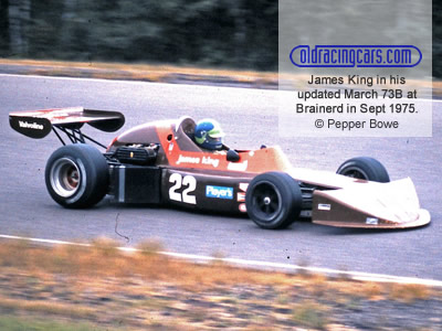 James King in his updated March 73B at Brainerd in September 1975. Copyright Pepper Bowe 2020. Used with permission.