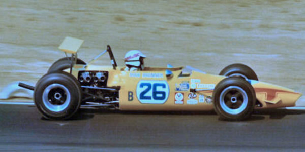 Doug Brenner in his Chevron B15B at Riverside late 1970.  Copyright Doug Brenner 2012.  Used with permission.