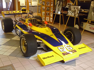 Jacques Dresang's ex-Donohue 1972 Eagle on display at the International Motor Racing Research Centre in July 2014. Copyright Allen Brown 2014. Used with permission.