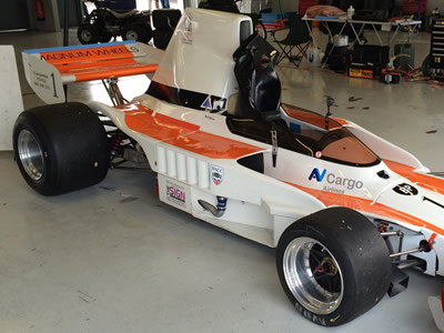 Neil Glover's Lola T330 was at Silverstone in October 2014 as an unused spare car/. Copyright Allen Brown  2014. Used with permission.