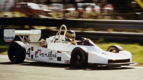 Roberto Guerrero in the Argo JM6 at Thruxton in 1980.  Copyright Michael C. Brown 2010.  Used with permission.