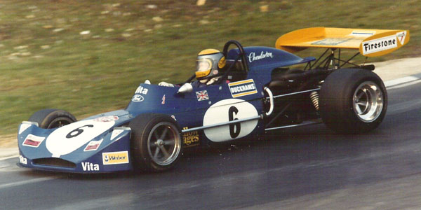 Steve Choularton in his March 73B at Brands Hatch in March 1973. Copyright Richard Bunyan 2007. Used with permission.