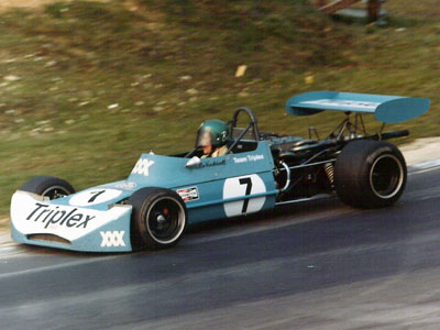 Colin Vandervell in his March 73B at Brands Hatch in March 1973. Copyright Richard Bunyan 2007. Used with permission.