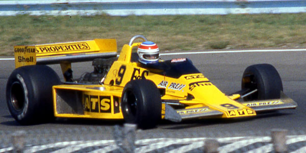 Michael Bleekemolen in the ATS HS1 at the 1978 US Grand Prix. Copyright Terry Capps  2017. Used with permission.