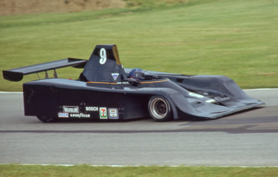 John Kalagian in his Frissbee at Mid-Ohio in 1982. Copyright Terry Capps 2014. Used with permission.
