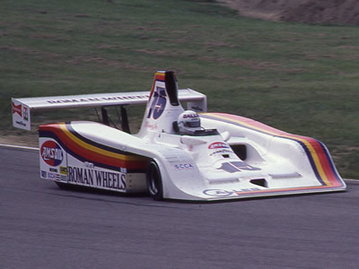 Al Unser with Frissbee GR2 at Mid-Ohio in June 1982. Copyright Terry Capps  2016. Used with permission.