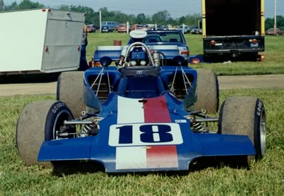 Steve Pieper's Lola T300 HU7 sitting in the paddock at Mid-Ohio 1973. Copyright Terry Capps 2013. Used with permission.