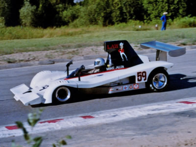 Mike Allen in his Lola T332 at Mosport Park in 1978. Copyright Terry Capps 2014.  Used with permission.