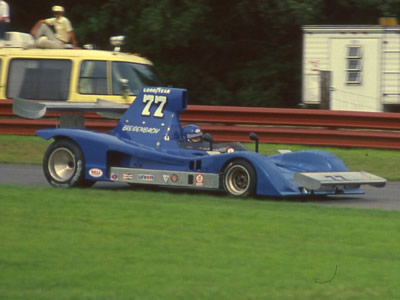Don Breidenbach at Mid-Ohio in 1977. Copyright Terry Capps  2014. Used with permission.