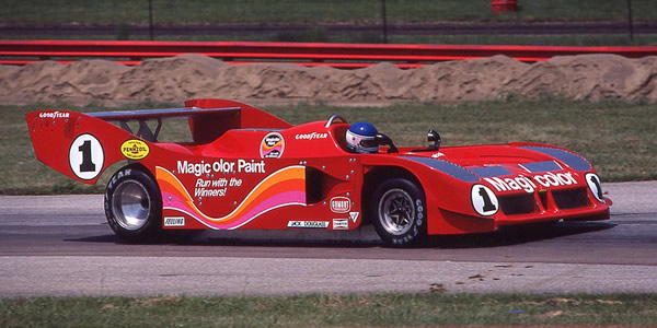 Patrick Tambay in the Carl Haas Lola T530 at Mid Ohio in 1980. Copyright Terry Capps  2014. Used with permission.