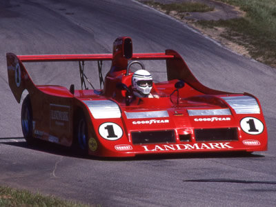 Jeff Wood in the Landmark-sponsored Carl Haas Racing Lola T530 at Mid-Ohio in 1981. Copyright Terry Capps  2014. Used with permission.