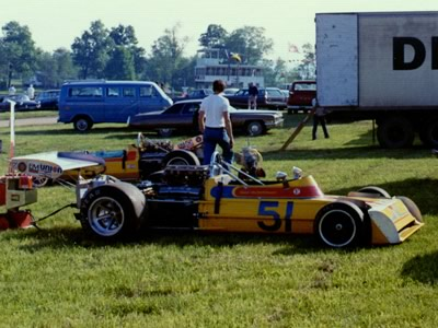 Gus Hutchison's March 73A at Mid Ohio in 1973. Copyright Terry Capps 2014. Used with permission.