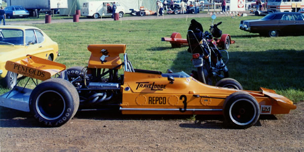 The Matich A51 in the paddock at Mid-Ohio in 1973. Copyright Terry Capps  2013. Used with permission.