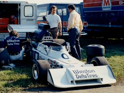 Jody Scheckter's Trojan T101 at Mid-Ohio in June 1973. Copyright Terry Capps  2013. Used with permission.