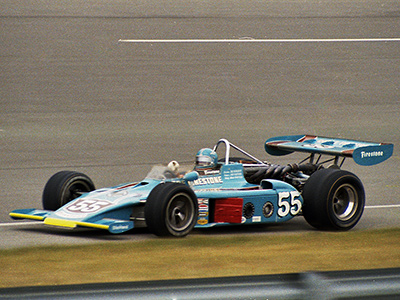 Lee Kunzman in the Cobre Tire 1973 Eagle at Michigan in September 1973. Copyright Paul Castagnoli 2020. Used with permission.