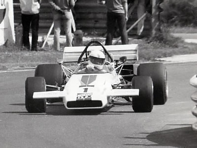 Brian Redman in the prototype M18 at Thruxton on 1 Aug 1971.  Copyright Robert Clayson 2005.  Used with permission.
