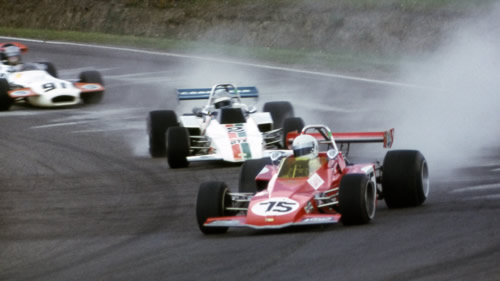 1973 non-champion Allan Lader holds off Craig Hill in their Brabham BT40s.  Copyright owned by the Canadian Motorsport Hall of Fame.  Used with permission.