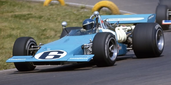 Brett Lunger in the ex-Penske Lola T192 at Edmonton in August 1971. Copyright owned by the Canadian Motorsport Hall of Fame . Used with permission.