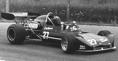 Gary Magwood in his March 73B, seen here with a Ford BDA engine, so this is presumably Sanair in July 1974. Copyright owned by the Northern Alberta Sports Car Club. Used with permission.