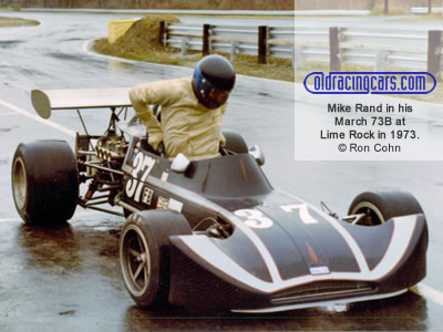 Mike Rand in his March 73B at Lime Rock in 1973. Copyright Ron Cohn 2020. Used with permission.