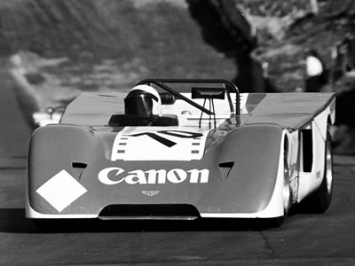 John Burton in his Chevron B19 chassis 71-10 at Brands Hatch on 30 Aug 1971. Copyright Peter Collins 2009. Used with permission.