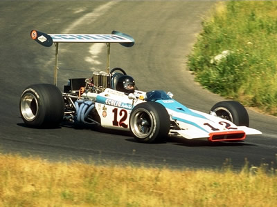 George Wintersteen in his Lotus 70 in 1970.  Image issued by Corel. Copyright Corel. Used with permission.