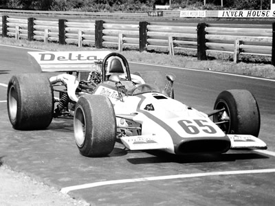 Nick Dioguardi's Surtees TS5 at Lime Rock in 1971. Copyright Frank Cornell  2020. Used with permission.