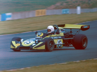 Ken Fildes racing a March 73B  at Donington Park in April 1978. Copyright Alan Cox 2009. Used with permission.