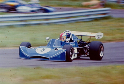 Geoff Friswell in his March 73B at Oulton Park in 1974. Copyright Alan Cox 2009. Used with permission.