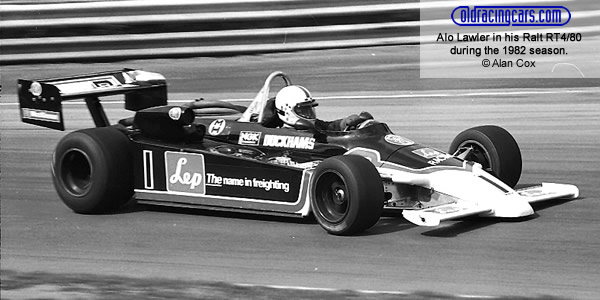 Alo Lawler in his Ralt RT4 in 1982.  Copyright Alan Cox 2010.  Used with permission.
