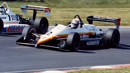 Andy Wallace in the Reynard 863 in June 1986.  Copyright Alan Cox 2011.  Used with permission.