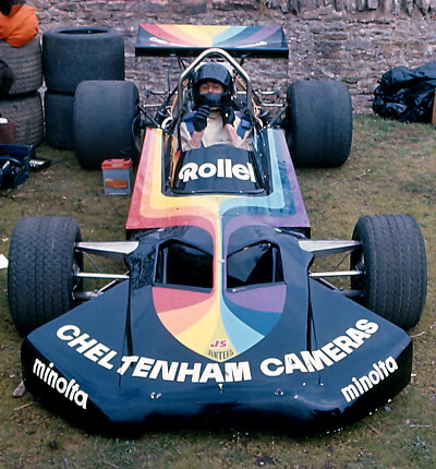 Alan Richards in the Cheltenham Cameras Surtees TS8 at Loton Park in April 1976. Copyright Alan Cox  2006. Used with permission.