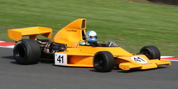 Abba Kogan racing the restored McLaren M25 in Formula 5000 specification at Oulton Park in August 2008. Copyright Richard Crawford  2017. Used with permission.