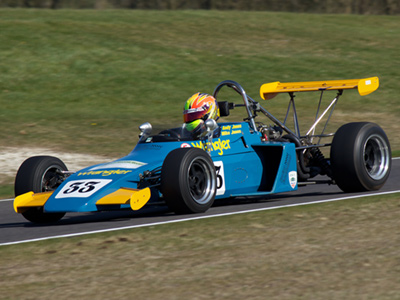Andy and Mike Jones' Brabham BT38C at Cadwell Park in April 2013. Licenced by Mark Benson under Creative Commons licence Attribution-ShareAlike 2.0 Generic (CC BY-SA 2.0). Original image has been cropped.