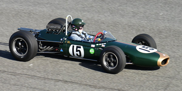 James King in his restored Brabham BT7 at the Autódromo do Estoril in October 2017. Licenced by Flickr user '_morgado' under Creative Commons licence Attribution 2.0 Generic (CC BY 2.0). Original image has been cropped.