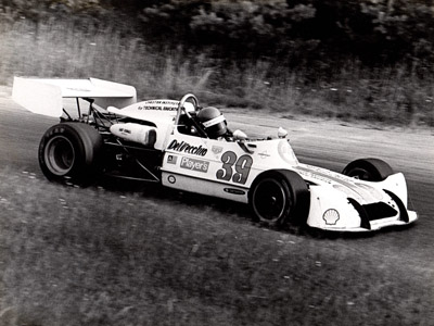 Frank DelVecchio in his March 73B at Lime Rock in 1975. Copyright Frank DelVecchio 2020. Used with permission.