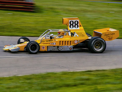 Tuck Thomas in his Lola T332 at Mid-Ohio in 1976. Copyright Richard Deming  2016. Used with permission.
